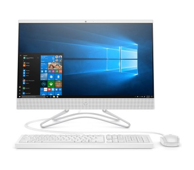"Моноблок HP 24-f0036ur 23.8"" FHD/ Core i5-8250U/ 8GB/ 1TB/ DVD-RW/ WiFi/ BT/ DOS/ Snow White (4GT37EA#ACB)"
