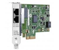 Адаптер HP Ethernet Adapter, 361T, 2x1Gb, PCIe (2.0), for DL165/ 580/ 980G7 & Gen8-servers (652497-B21)