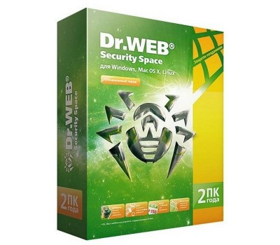 Антивирус DR.Web Security Space 2 ПК/2 года (BHW-B-24M-2-A3)