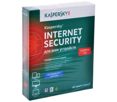 Антивирус Kaspersky Internet Security Multi-Device Russian Edition Box (1 год, 2 устройства, мультиплатформа) (KL1941RBBFS)