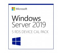 Клиентская лицензия MS Windows Server RDS CAL 2019 Англ. (5 польз.) (6VC-03804)