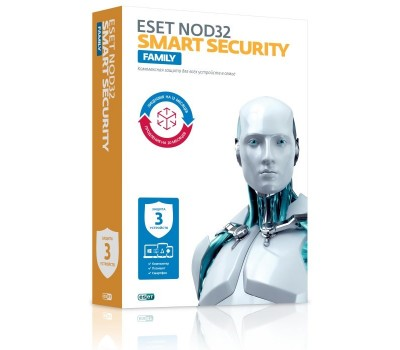 Антивирус Eset NOD32 Smart Security Family (Лиц. 1 год/ прод 20 мес. 3 устр. Box) (NOD32-ESM-1220(BOX)-1-3)