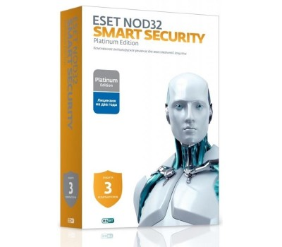 Антивирус Eset NOD32 Smart Security Family Platinum Edition (3 устр. 2 годa Box) (NOD32-ESM-NS(BOX)-2-3)