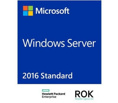 Лицензия HPE Windows Server 2016 Standard Edition, RU, 16-Core, ROK DVD (P00487-251)