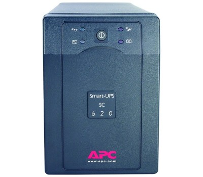 ИБП APC Smart-UPS 620VA/390W, 230V, Line-Interactive, Data line surge protect, HS repl. batteries, PowerChute (SC620I)